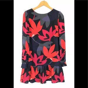 Ann Taylor Loft Floral Long Sleeve Blouse